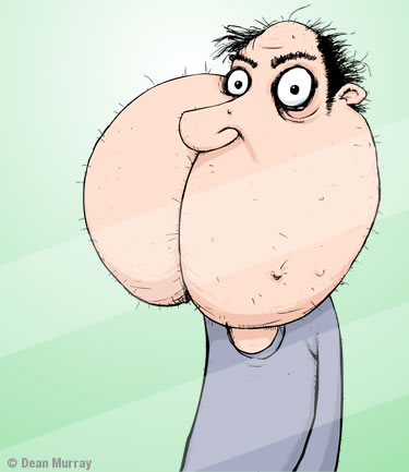 Bottom Face Cartoon Character
