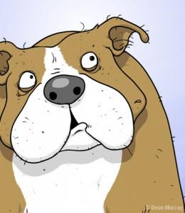 British Bulldog Cartoon Charatcer