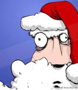 Crazy Santa Illustration