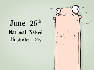 National Naked Illustrator Day