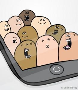 Social Network Chat Illustration